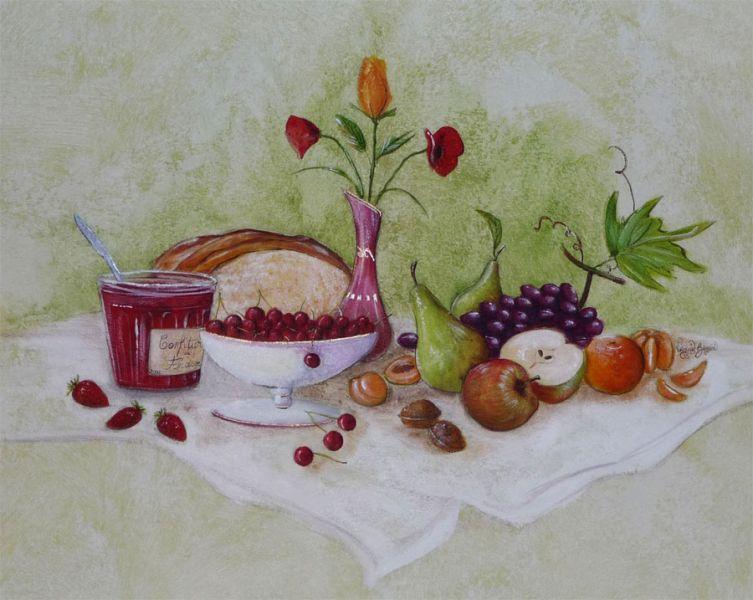 Peinture sur toile et murs at giniline - Peinture acrylique cuisine ...